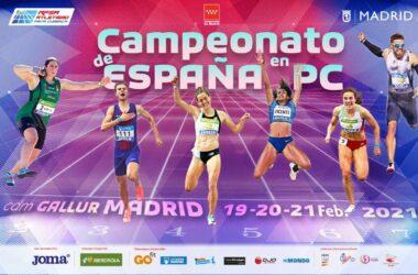 el Campeonato de España de Atletismo en Pista Cubierta en categoría absoluta