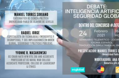 debate 'Inteligencia artificial y la seguridad global'.