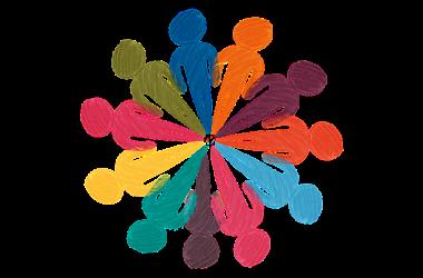 ilustración: personas en comunidad