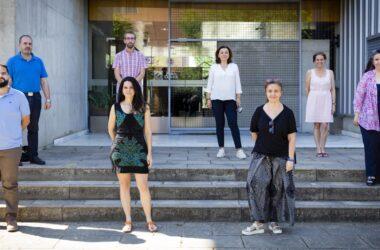 Equipo Art-Risk en la UPO: José María Martín, Javier Corona, Javier Becerra, Mónica Moreno, Dolores Segura, Pilar Ortiz, Auxiliadora Gómez y Rocío Ortiz.