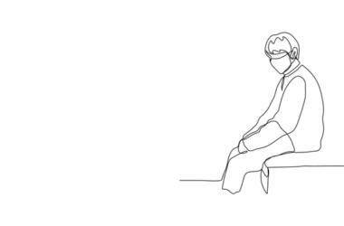 ilustración: hombre con masacarilla