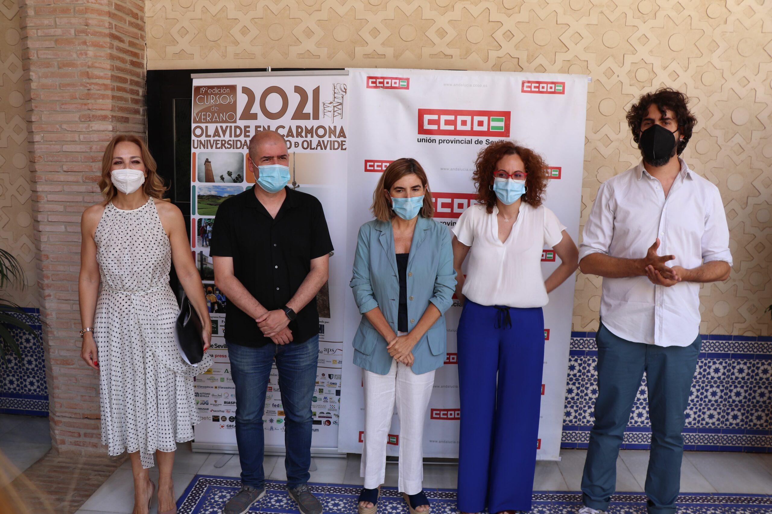 Rocío Reinoso, Unai Sordo, Rocío Blanco, Nuria López y Carlos Aristu