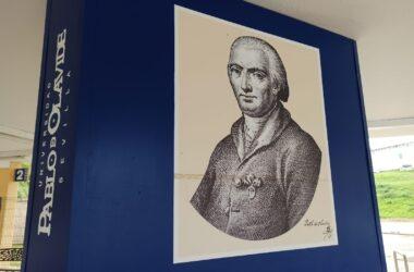 Imagen de Pablo de Olavide en el campus de la UPO