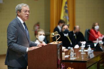 Rogelio Velasco en su discurso durante la Apertura