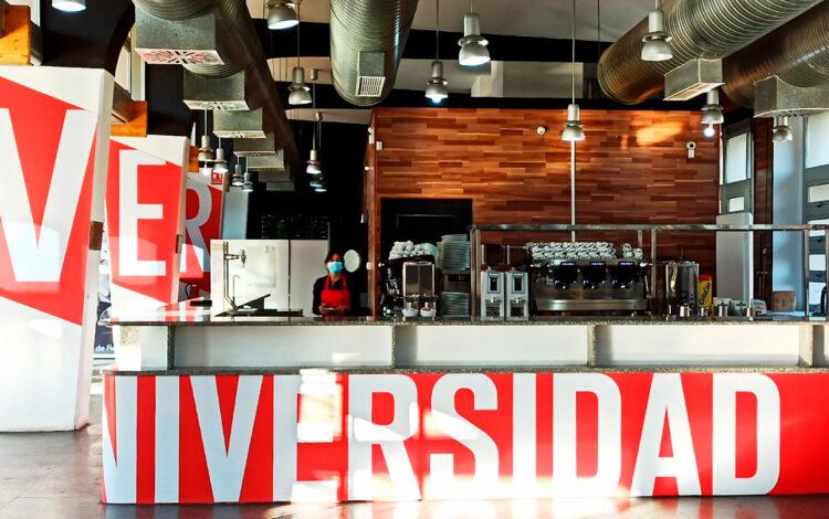 Cafetería de la plaza América, campus de la UPO