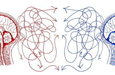 ilustración sobre comunicación entre dos personas