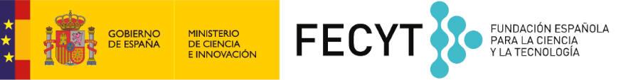 Logo FECYT con banderas