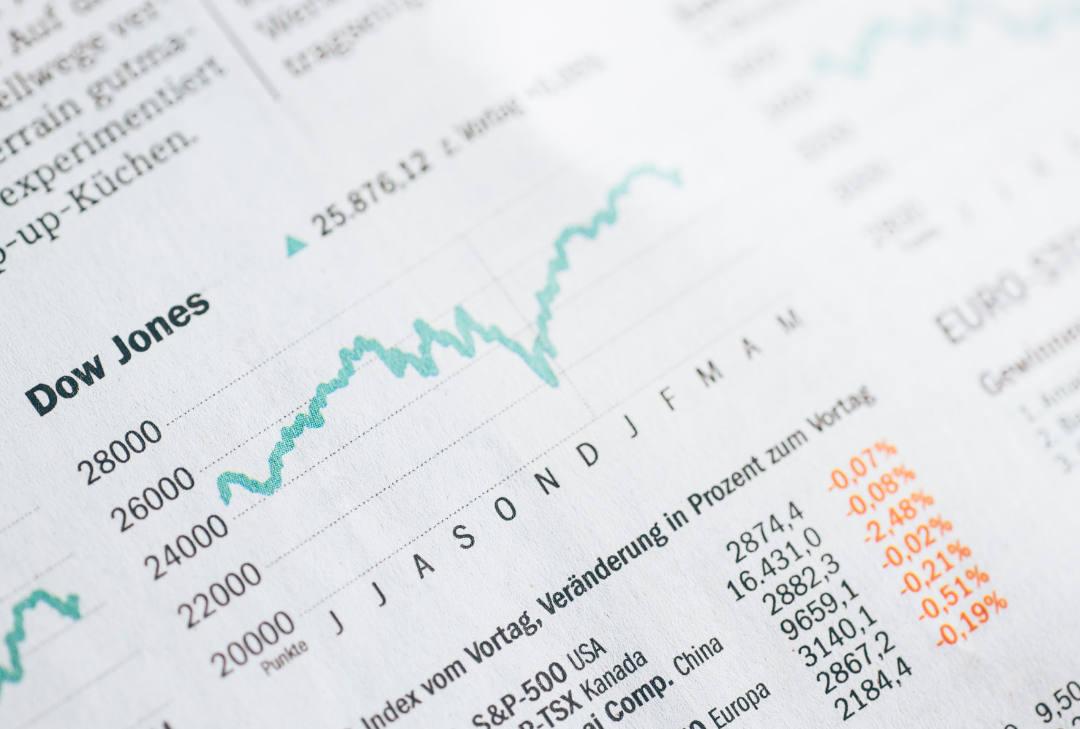 Foto gráfico Dow Jones