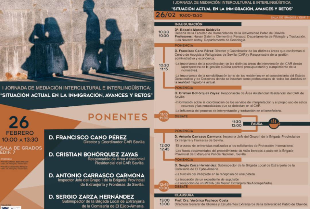 Cartel de las Jornadas de Mediación Intercultural e Interlingüística