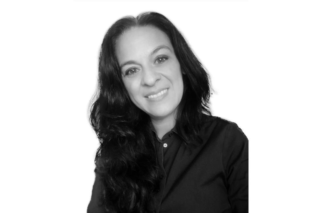 Carmen Álvarez García en blanco y negro