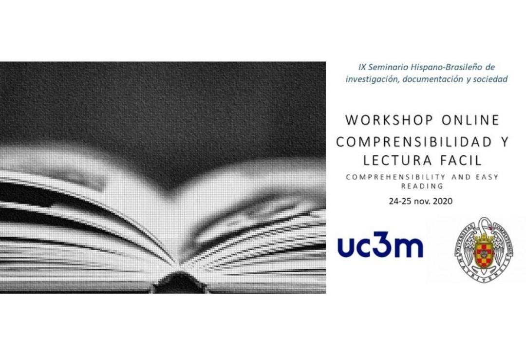 Foto libro abierto del cartel del taller de Comprensibilidad y Lectura Fácil