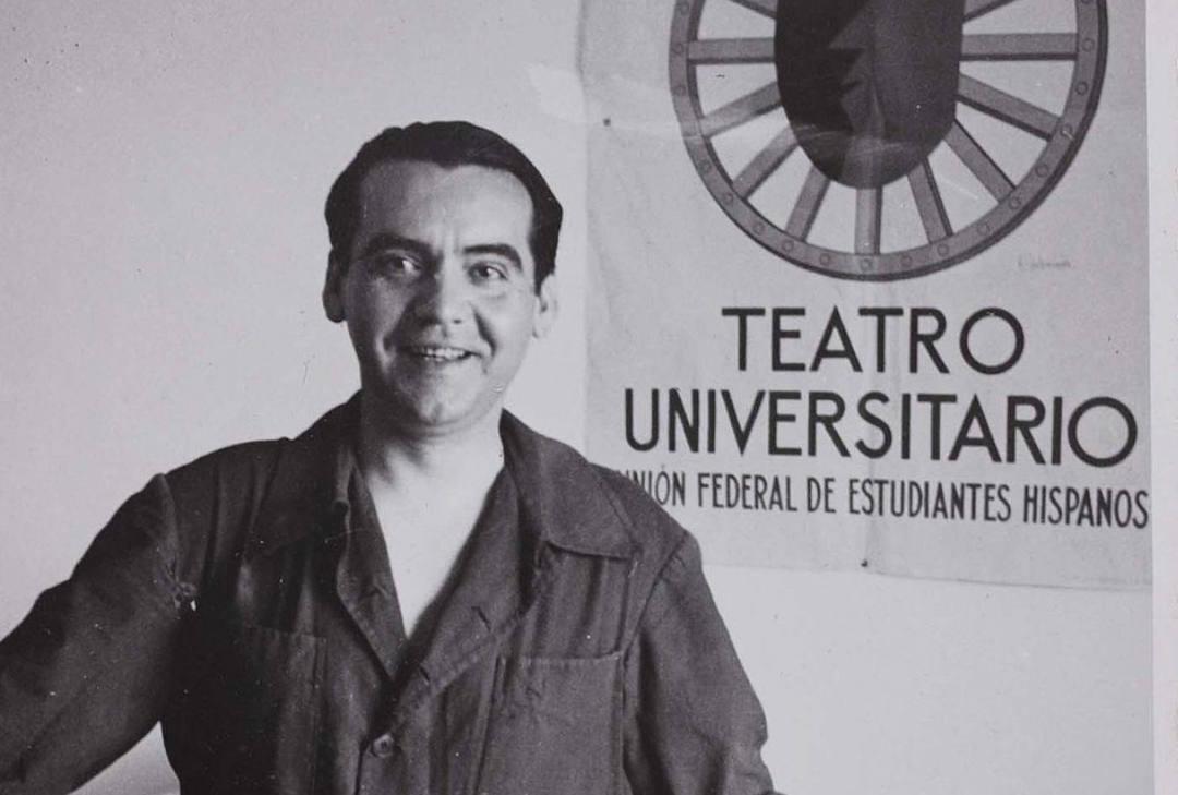 Federico Garcia Lorca en blanco y negro