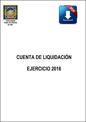 Cuenta de liquidación ejercicio 2016