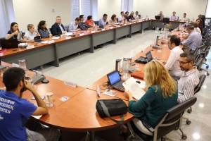 Sesión del Consejo de Gobierno en el rectorado