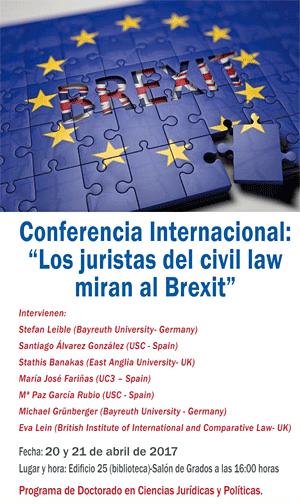 Conferencia Internacional: Los juristas del 'civil law' miran al Brexit